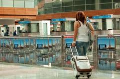 Reisen mit der Fläche  Lizenzfreies Stockfoto