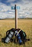 Reisen mit Rucksack Lizenzfreie Stockbilder