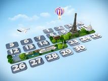Reisen nach Paris. Lizenzfreies Stockbild