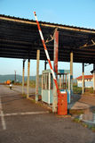 Reisen ramp. Old control customs post between Serbia and Romania Royalty Free Stock Image