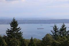Reisen Sie mit dem Schiff, um schönes Vancouver, Britisch-Columbia zu sehen Stockbild