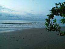 Reisen Sie zu Angsana-Strand, Süd-Kalimantan, wonderfule Indonesien Lizenzfreie Stockfotografie