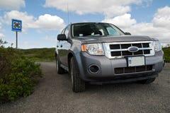 Reisen um Island mit dem Auto Stockbild