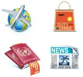 Reisen- und Ferienikonen. Teil 1 Lizenzfreie Stockfotografie