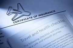 Reisen-Versicherung Stockfoto