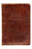 Reisen-Zeitschriften-Leder-Notizbuch lizenzfreie stockbilder