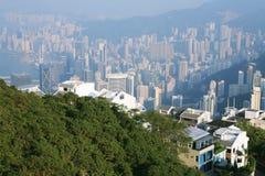 Reisendansicht Hong Kong von der Spitze Lizenzfreies Stockbild
