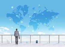 Reisende abstrakte Karte des Konzeptes Stockfotos