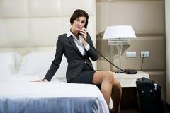 Reisende Geschäftsfrau Lizenzfreie Stockfotografie