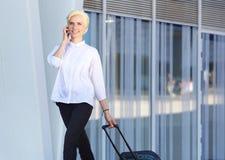 Reisende Geschäftsfrau Stockfotografie