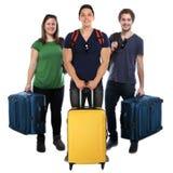 Reisende Gruppe der Reise Ferienfeiertage der jungen Leute sacken ISO ein stockfotos