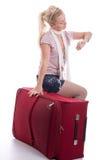 Reisende junge Frau Lizenzfreie Stockfotos