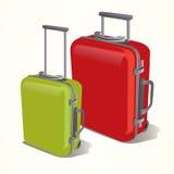 Reisende Koffervektorillustration lizenzfreie stockbilder