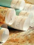 Reisende Pläne Lizenzfreie Stockfotografie