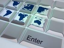 Reisende Tastatur Lizenzfreies Stockfoto