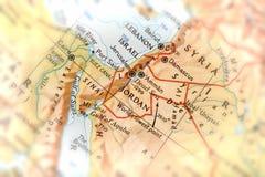 Reisender gerichtet auf Jordanien Stockfoto