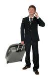 Reisender Geschäftsmann Stockfoto