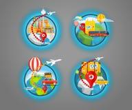 Reisendes Konzept der Ferien mit Stiften Lizenzfreie Stockfotos