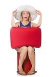 Reisendes Konzept mit Person Stockbilder