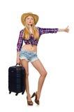 Reisendes Tourismuskonzept lokalisiert Lizenzfreies Stockbild