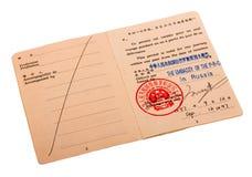Reisenerlaubnis Stockfotos