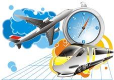 Reisenhintergrund - Vektor lizenzfreies stockbild