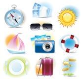 Reisenikonen Lizenzfreie Stockfotos
