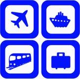 Reisenikonen eingestellt Lizenzfreie Stockbilder