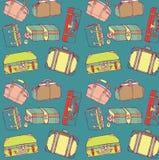 Reisenkoffer nahtlos Lizenzfreie Stockbilder