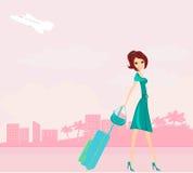 Reisenmädchen Lizenzfreie Stockbilder