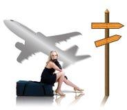 Reisenmädchen stockfoto
