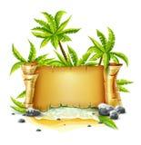 Reisepapierskriptfahne zur Insel Lizenzfreie Stockfotos