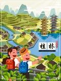 Reiseplakat Chinas Guilin vektor abbildung