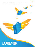 Reiseplakatdesign Stockbild