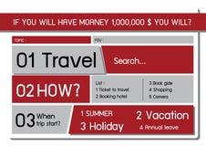 Reiseplan Lizenzfreies Stockbild