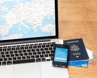 Reiseplanung Stockfoto