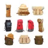 Reisetaschen und -rucksäcke Stockbild