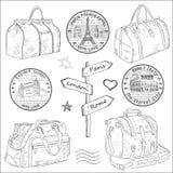 Reisetaschen unterschiedlich Lizenzfreie Stockbilder