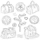Reisetaschen unterschiedlich Lizenzfreies Stockbild