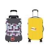 Reisetourismus-Modegepäck oder Verpackungsaktenkoffer- und -reisebestimmungsort des Gepäckferiengriffleders großer umkleiden Tasc Lizenzfreie Stockfotografie