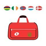 Reisetourismus-Modegepäck oder Verpackungsaktenkoffer- und -reisebestimmungsort des Gepäckferiengriffleders großer umkleiden Tasc Lizenzfreie Stockbilder