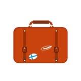 Reisetourismus-Modegepäck oder Verpackungsaktenkoffer- und -reisebestimmungsort des Gepäckferiengriffleders großer umkleiden Tasc Stockbild