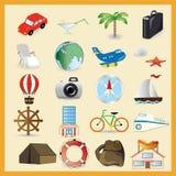 Reisevektorsatz Stockfoto