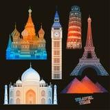 Reisewerbungsdesign In hohem Grade realistische Illustration Lizenzfreies Stockbild