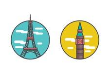 Reisezielikonen Lizenzfreie Stockbilder