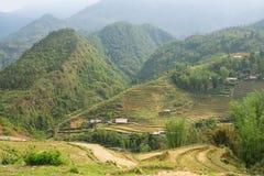 Reisfelder in den Bergen in Sa-PA, Nord-Vietnam Lizenzfreies Stockfoto