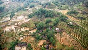 Reisfelder in den Bergen in Sa-PA, Nord-Vietnam Lizenzfreies Stockbild
