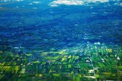 Reisfeldhintergrund Lizenzfreie Stockbilder