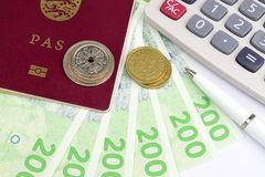 Reisgeld Denemarken stock fotografie