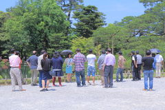 Reisgroep in Kenrokuen-Tuin Kanazawa Royalty-vrije Stock Afbeelding